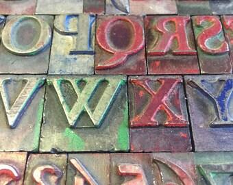 Full Alphabet of Printer Block Letters