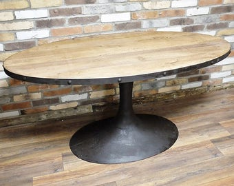 Industrial Style Reclaimed Wood and Iron Table