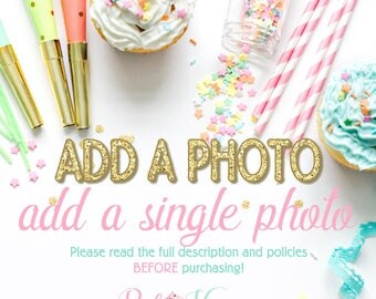 Add A Photo Upgrade: Extras and Add Ons