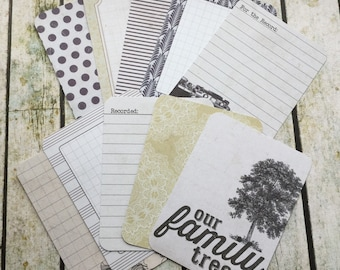10x Project Life Cards For Scrapbooking, Journaling and Penpal Snailmail