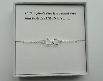 Daughter gift, Sterling silver Infinity bracelet, Infinity bracelet, Infinity jewelry, Gift for daughter, Gift for Bride