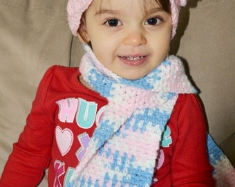 Toddler Scarf and Beanie Set