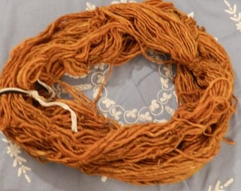 ITEM OF The Week - SALE - Vintage Yarn - French Vintage - Echeveau de Laine - Large Hank of Wool - Mustard Colour - Never Been Used