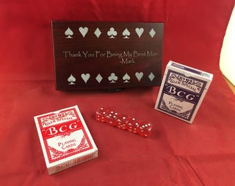 Personalized Card & Dice Gift Box