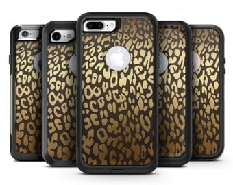 Dark Gold Flaked Animal v3 - OtterBox Case Skin-Kit for the iPhone, Galaxy & More