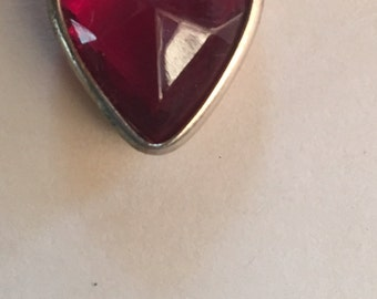Vintage Red Heart Pendant