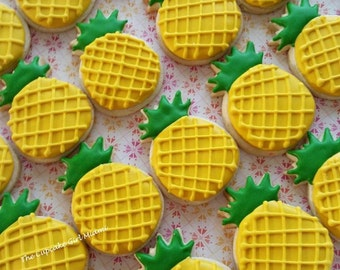 Mini Pineapple sugar Cookies  2 Dozen
