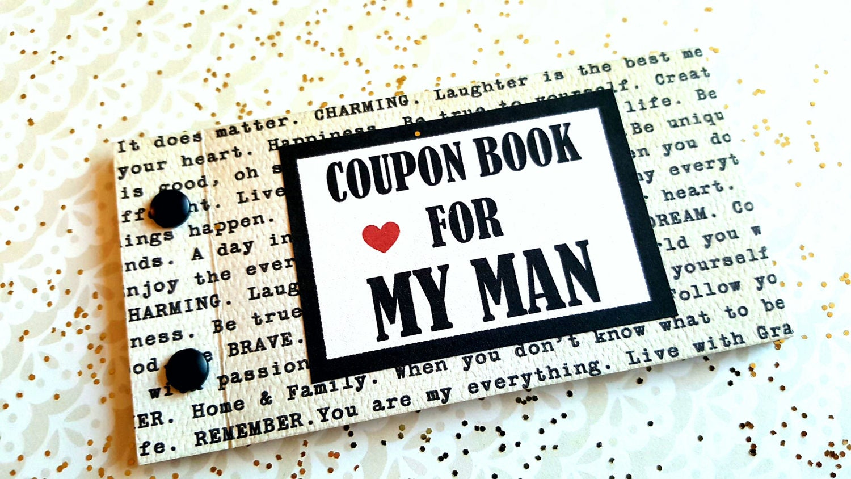 love mini coupon book for husband boyfriend  anniversary
