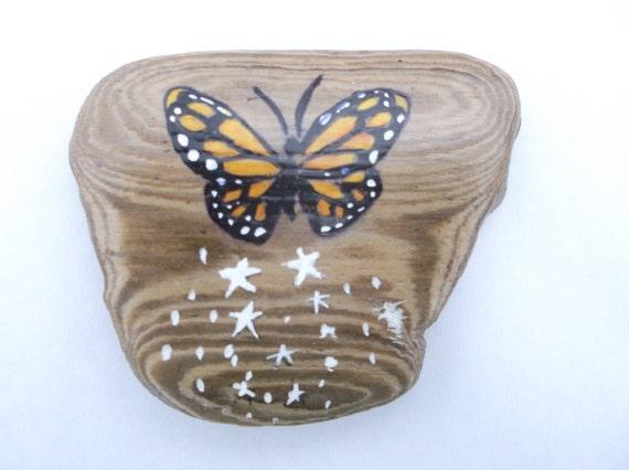 butterfly kitchen magnet butterfly office decor driftwood