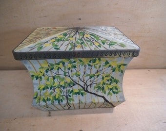 Rare Edward Sharpe Sweet Tin - Four Seasons - Casket