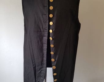 Ready to Go - X-Large - Sailors Pirate Vest - Metal Buttons - Men and Women - Pirate, 18th's Century, Jack Sparrow, Cosplay, Colonial