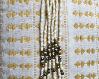 "Vintage triple strand beaded 18"" necklace"