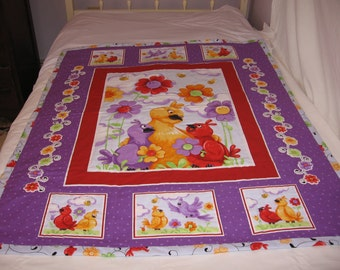 Birds and Flowers Baby Quilt