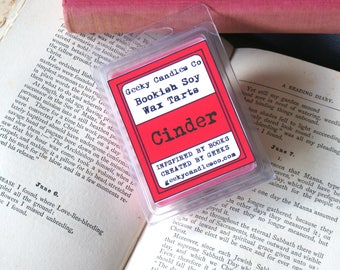 Cinder Wax Tart - Book Candle - Lunar Chronicles Inspired - Sandalwood and Patchouli
