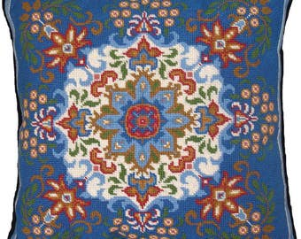 Blue Kaleidoscope Needlepoint Kit