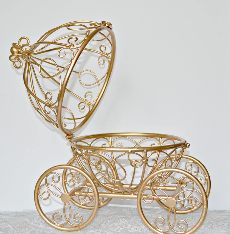 Gold Wire Cinderella Carriage/Fairytale Wedding Ball Centerpiece ...