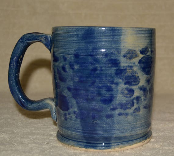 Mug, 24OZ, Coffee Mug, Tea Mug, Cocoa Mug, Camo, Blue, Stoneware, Ceramic, Kitchen