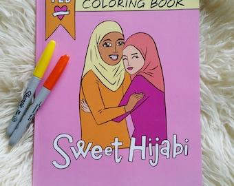 Sweet Hijabi- Coloring Book