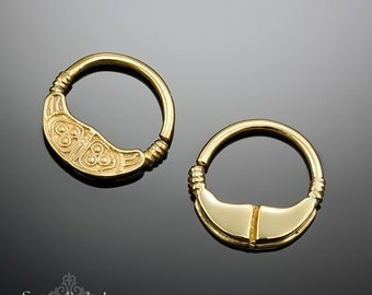 Gold Septum Ring - Septum Jewelry - Gold Nose Ring - Nose Jewelry - Gold Septum - Boho Nose Ring - Tribal Septum
