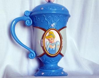 "Cinderella, ""Disney on Ice"" Cup, Flip Top Lid, Walt Disney's ""Cinderella"" Mug, Disney Princess"