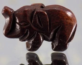 Elephant - Hand Carved Bone - 26.3 mm Z1-506