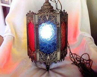 Hanging Light, lamp, 1960, lighting,Bohemian, working, Vintage lighting, ceiling mount