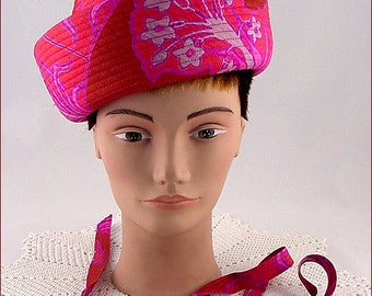 Vintage Colorful Pink Hat by Emme Inc New York (Inventory #HAT261)