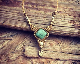 Jade necklace Gentle pearl necklace handemade jewelry with brass beads necklace YOGA jewelry,women ,Boho Chic bohemian craft artofgoddess