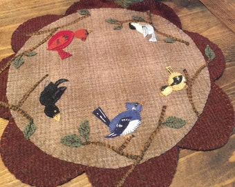 Wooly Feathered friends pattern
