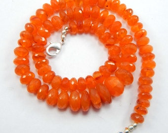 on sale on sale Carnelian Rondelle Beads Handmade Micro Faceted 19.5 Inches AAA Very Fine Quality Size 8-14mm at Factory Prices