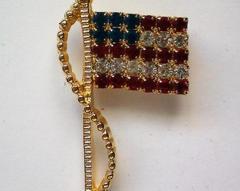 Signed American Flag Pin - 5043