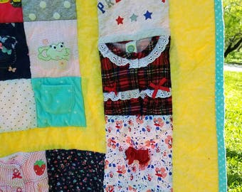 Baby/Toddler Memory Quilt, Baby Clothes Quilt, Memory Blanket