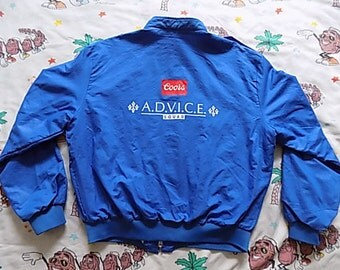 Vintage 80's COORS Advice Squad windbreaker Jacket, size Medium beer dead stock NOS!