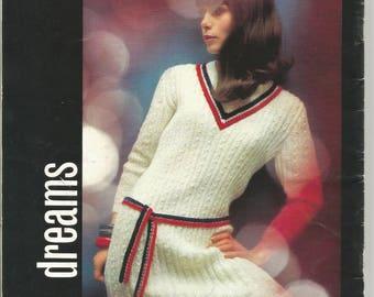Vintage Brunswick Knit Crochet Sweaters Dress Coat Skirt 16 Groovy Patterns Vol 668  circa 1968