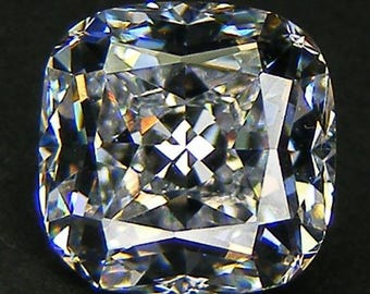 Top Quality 6A Cushion  Cut 8 x 8  MM. White Russian Cubic Zirconia CZ Loose Gemstones