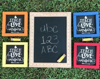 Teach Love Inspire Sign/ Teacher Appreciation Gift / Class Decor