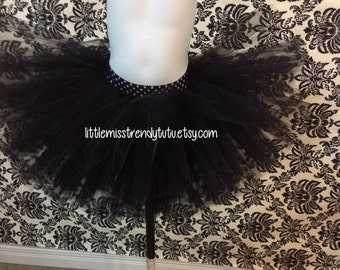 Black Tutu Skirt, Newborn Black Tutu, Girls Black Tutu, Black Toddler Tutu, Black Tutu, Black Dance Tutu