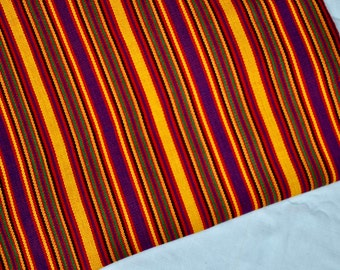 Ikat Handmade Fabric (#58) from Guatemala (THICK) - 100%Thick Cotton - Sold by yard - Suitable fabric for upholstery