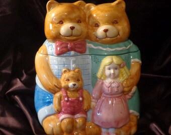 COOKIE JAR ~  Goldilocks and the Three Bears, Vintage