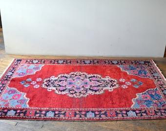 Vintage Persian Rug Distressed
