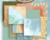 ON SALE Digital Scrapbook: By The Sea Paper Pack