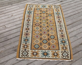 ANTIQUE Turkish Rug 2u00276x4u00278u0027u0027 Hand Woven Sharkoy Kilim Vintage Oriental