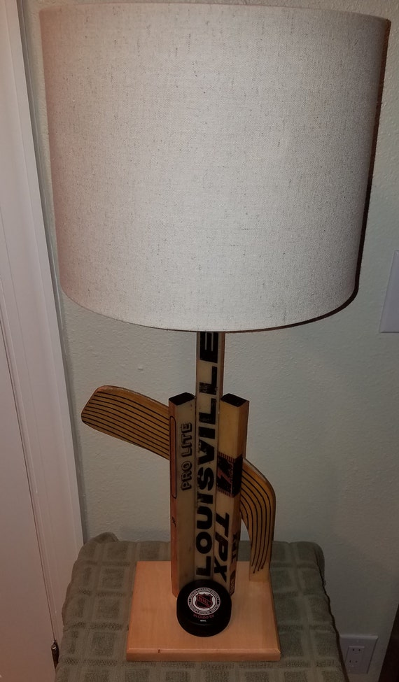 Hockey Stick Table Lamp, Hockey Decor, Man Cave Lamp, Boys Room Decor, Sports Decor