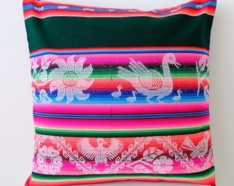 Striped Pillow cover, Multi colored Pillow cases - Ethnic Bohemian Decorative Pillows - Pillow Throws 1 piece
