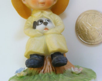 Vintage Puppy Statue / Friend Gift / Porcelain Dog Statue / Friend Items / George Good /  Puppy Items / Dog Items / Christmas Gift