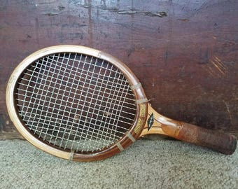 Rare Vintage Wooden Racketball Racket Court King 60s 70s Tennis Racquet