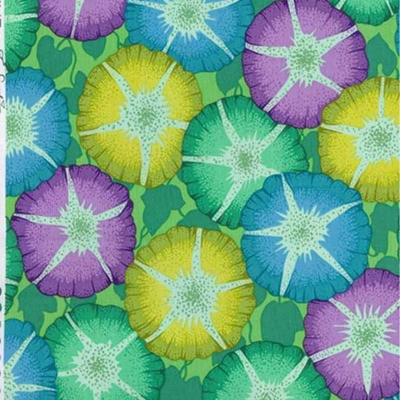 GLORY GREEN pwpj085 Philip Jacobs for Kaffe Fassett Collective Sold in 1/2 yd increments