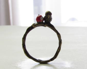 Bitten Apple Ring