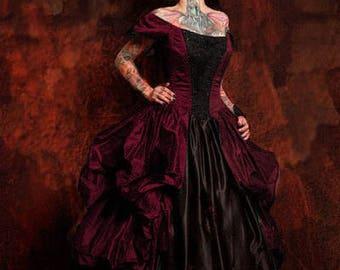 Victorian Gown Bustle Pickup Steel Boned Custom SALE