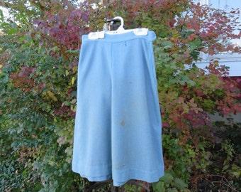 """5 dollar Summer SALE Vintage 1940s pale blue skirt A back zipper 26"""" waist (101216)"""
